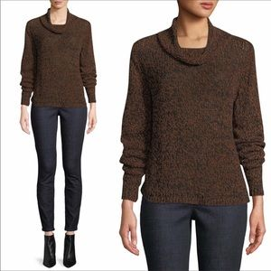 Eileen Fisher Organic Cotton Funnel Neck Sweater L